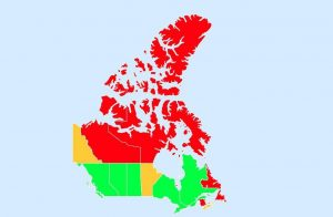 Map Of Coronavirus Travel Restrictions In Canadian Provinces