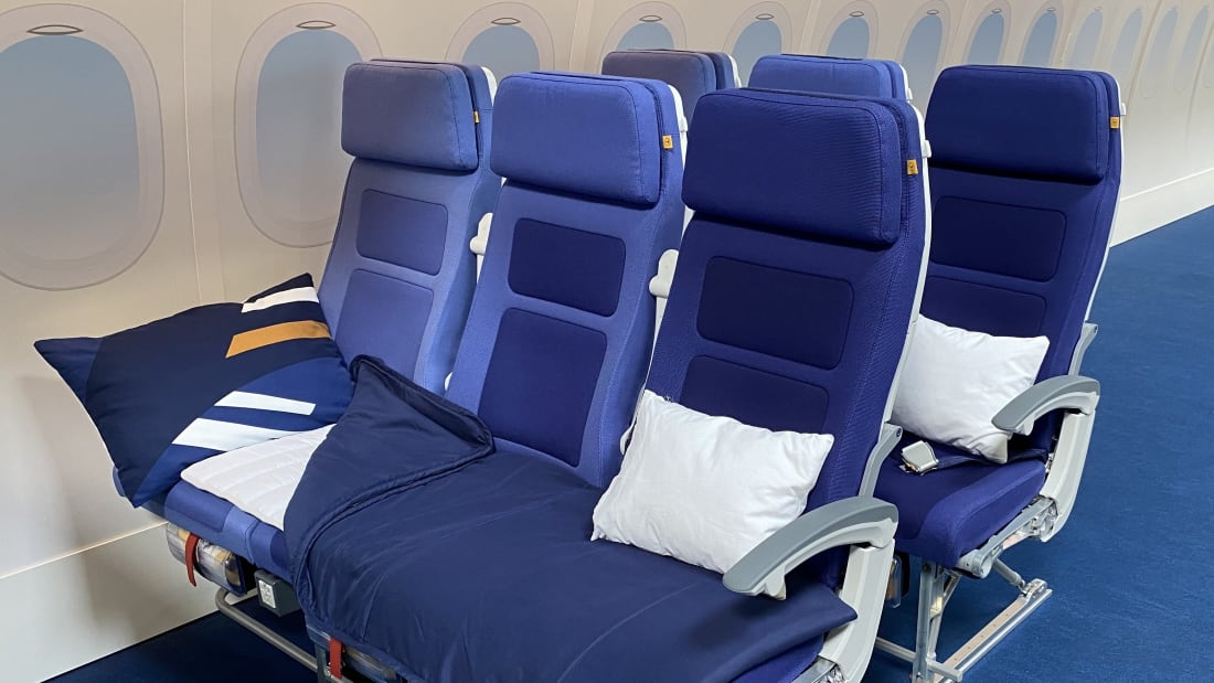 An Airline Is Testing A Lie-Flat Seat In Economy Class