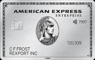 Carte de Platine entreprise d'American Express
