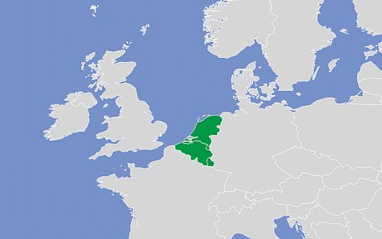 carte des pays du benelux
