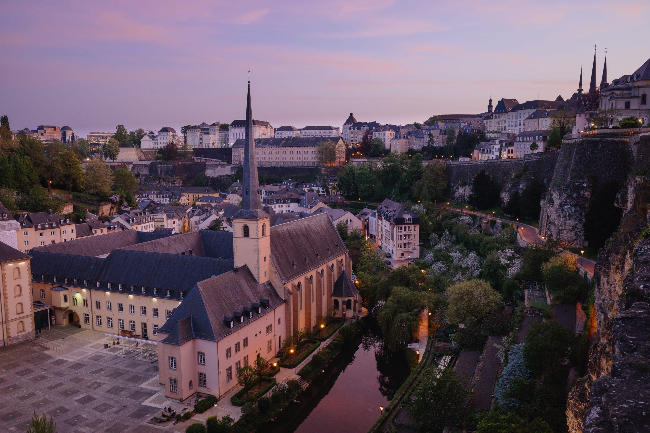 vue de luxembourg, une des capitales des pays du benelux
