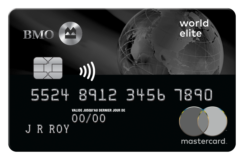 Carte MasterCard BMO World Elite