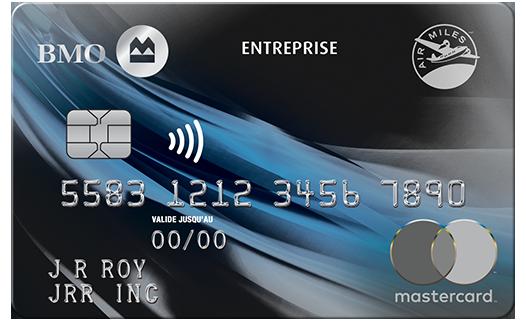 Carte Mastercard BMO AIR MILES pour entreprise