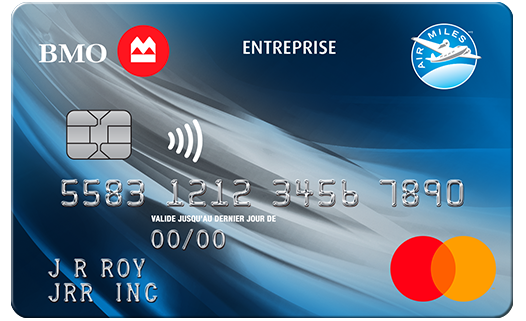 Carte Mastercard BMO AIR MILES pour entreprise (sans frais)