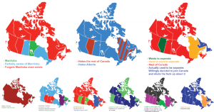 9 Funny Maps Showing Ways To Divide Canada