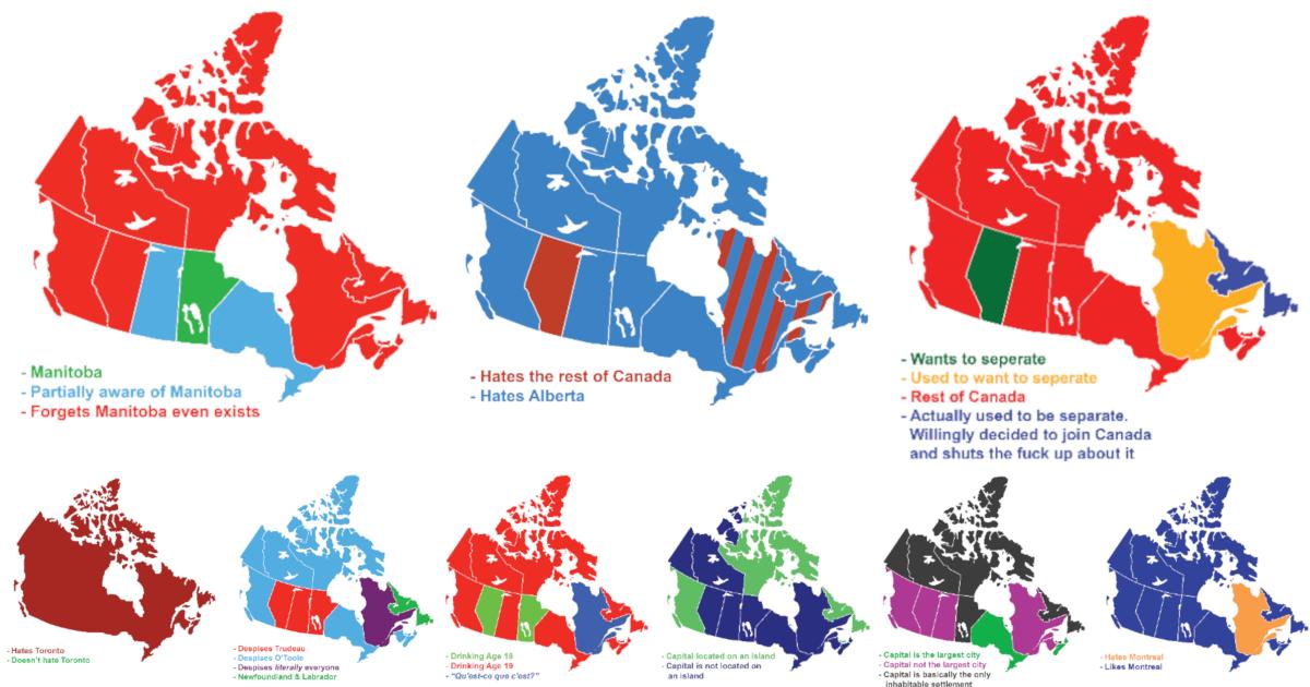 You are currently viewing 9 cartes drôles qui montrent des façons de diviser le Canada