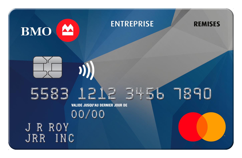 Carte Mastercard BMO Remises pour entreprise