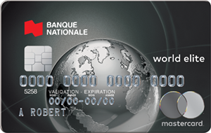 Carte Mastercard World Elite Banque Nationale
