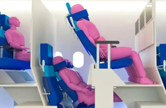 double-decker airplane seat
