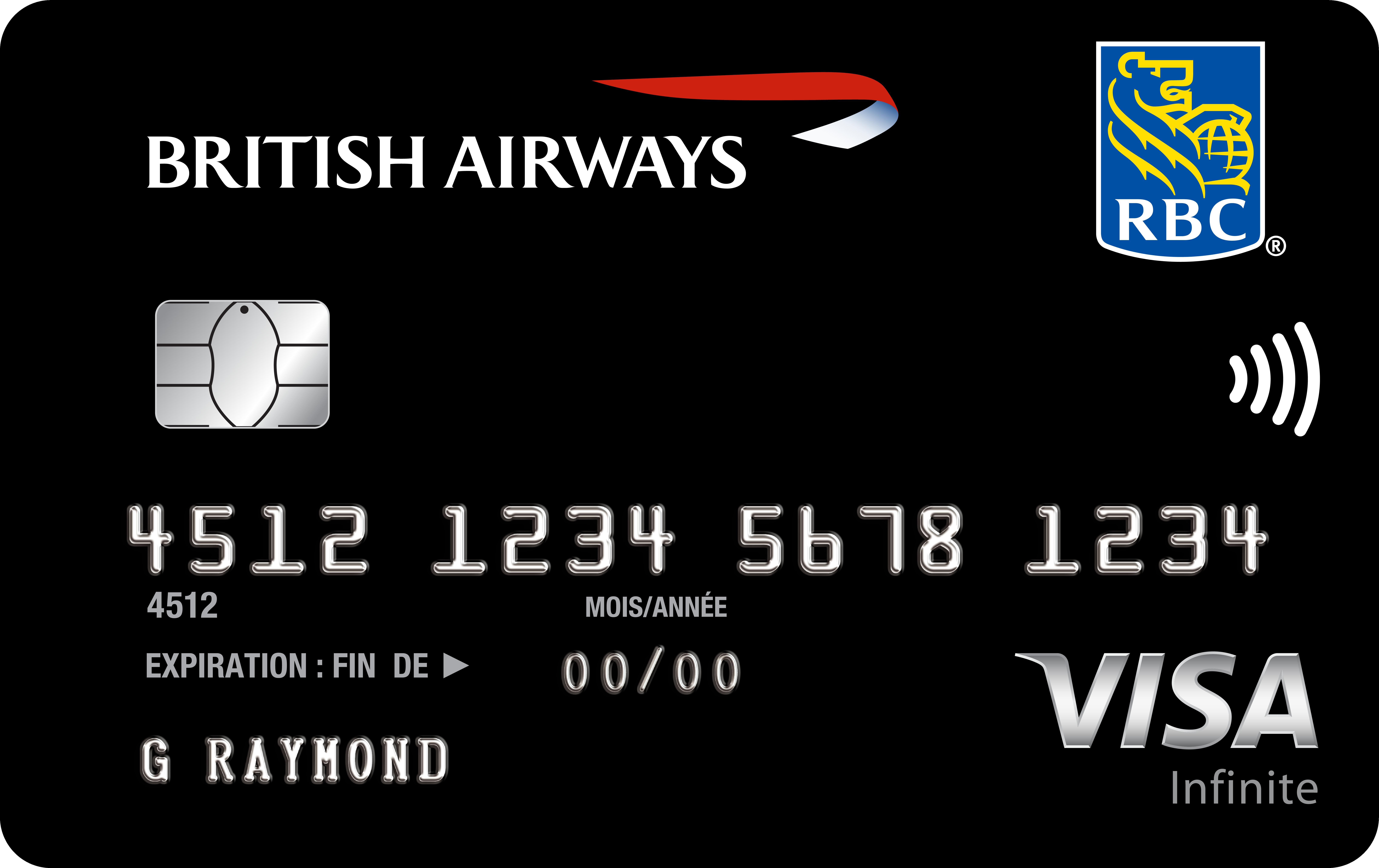Carte Visa Infinite British Airways RBC
